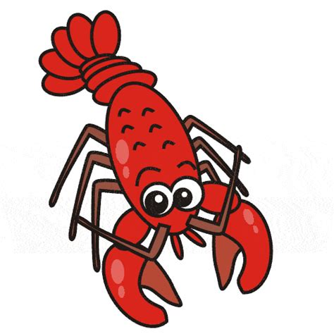 lobster clip crayfish clipart pencil and in color crayfish