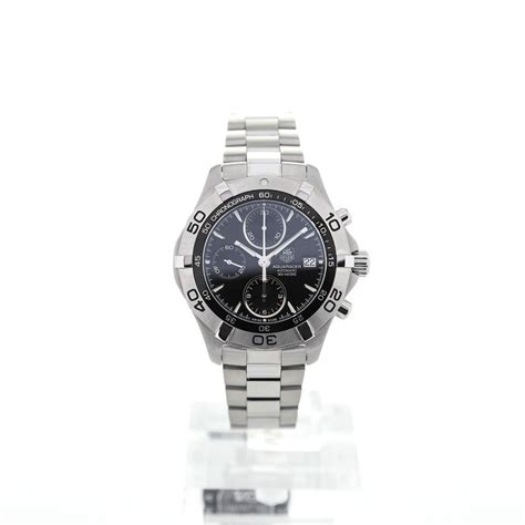 Tag Heuer Aquaracer Steel For tag heuer aquaracer automatic chronograph 41mm black