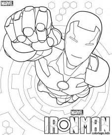 coloriage iron man avengers marvel dessin