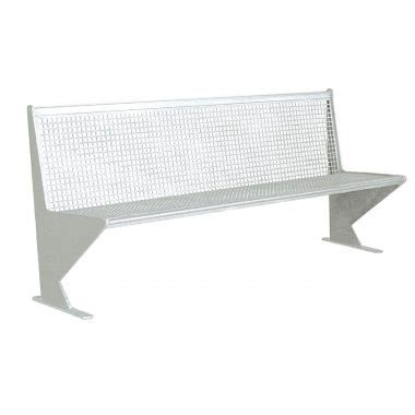 2 plate bench perforated plate bench forniture urban element parks and
