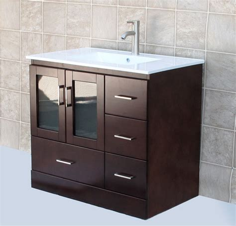 16 deep bathroom vanity 36 quot bathroom vanity cabinet ceramic lavatory top with