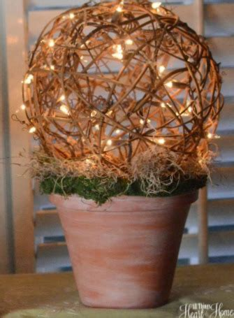 grapevine balls with lights grapevine ball topiary lighted all things heart and home