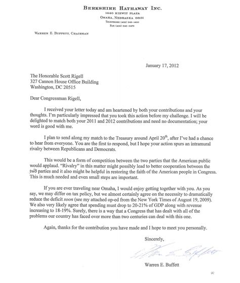 letter to a congressman template congressman takes buffett up on his offer buffett says he