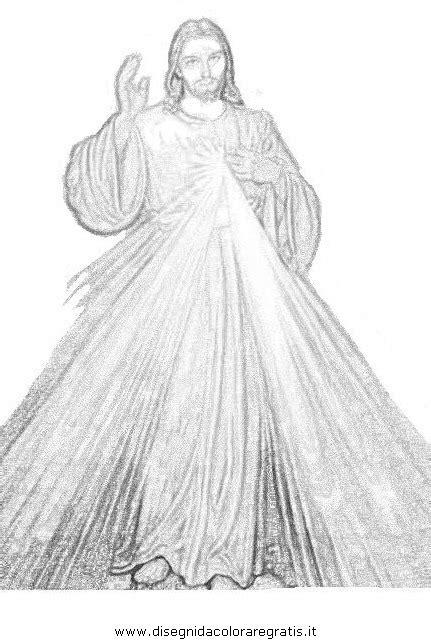 Disegno gesu_misericordioso_02 categoria religione da colorare