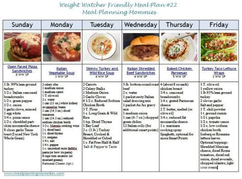 printable weight watchers recipes weight watcher friendly meal plan 22 with freestyle smart