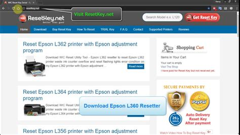 reset l360 reset epson l360 printer epson adjustment program youtube