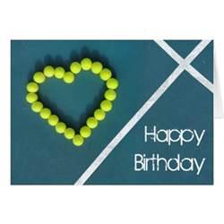tennis happy birthday personalized card zazzle
