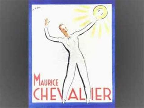 lyrics chevalier quot you brought a new of to me quot maurice chevalier