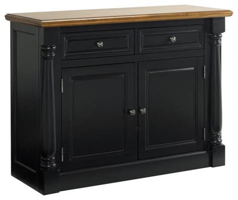 monarch oak black buffet contemporary buffets and