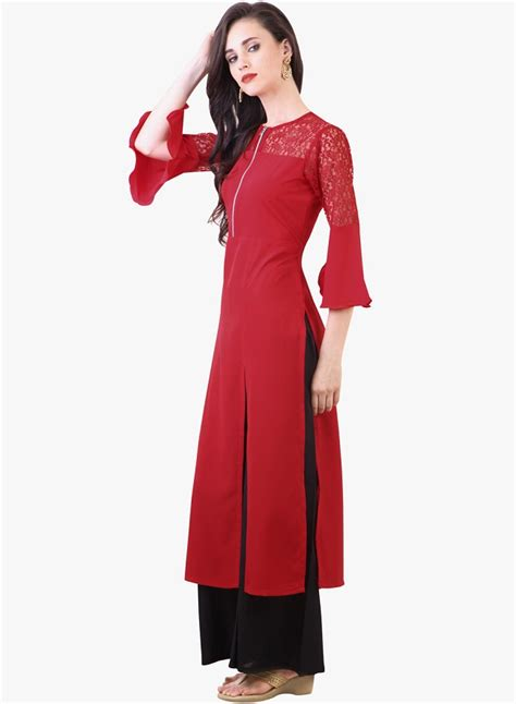 Slit New designer kurtis with different cut types looksgud in