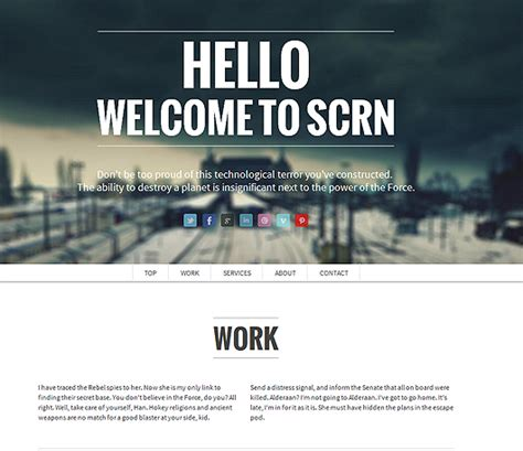 scrn html5 responsive parallax template html5 mania