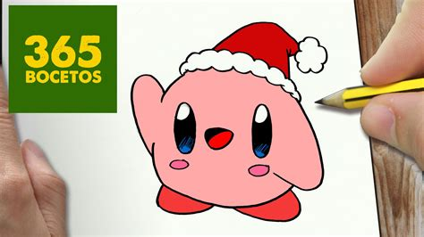 imagenes de kirby kawaii como dibujar un kirby para navidad paso a paso dibujos