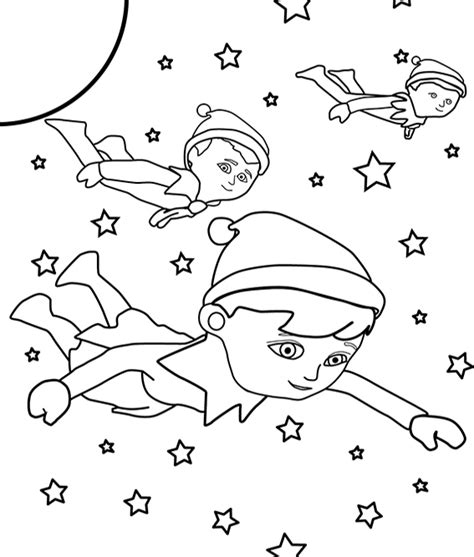 free coloring pages of elf on the shelf