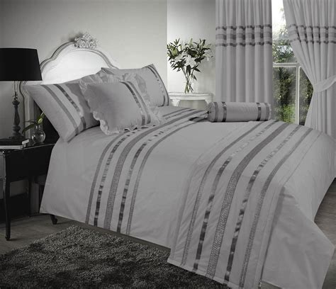 egyptian cotton bedding grey silver stylish sequin duvet cover luxury beautiful glamour sparkle egyptian