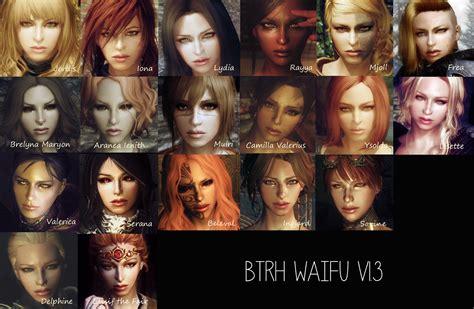 best hair mod for skyrim btrh waifu at skyrim nexus mods and community