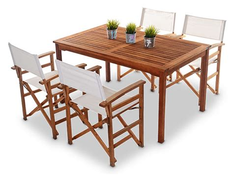 outdoor wooden table and chairs outdoor wooden tables with 4 x directors chairs