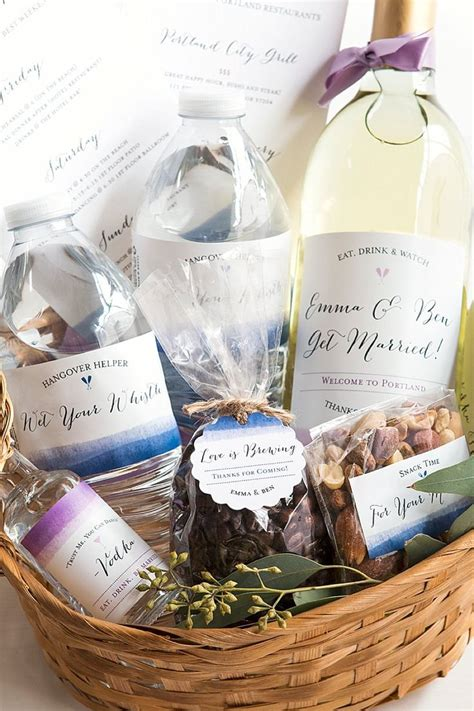 17 best ideas about wedding welcome baskets on wedding welcome gifts destination