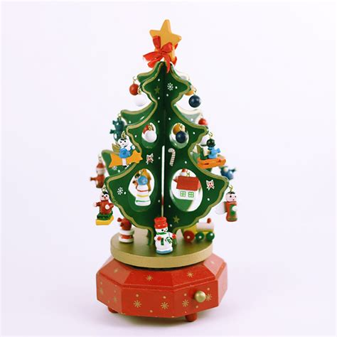 music box for christmas tree lights wooden christmas tree rotating music box christmas gift