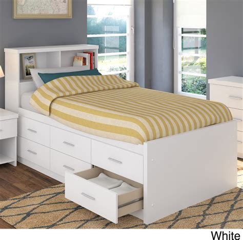 twin bed with storage and bookcase headboard sonax 2 piece single twin captain s storage bed set with