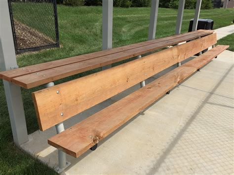 dugout bench plans dugouts aalco