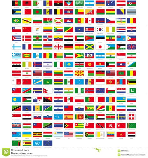 flags of the world vector flags of the world stock vector image 61474065
