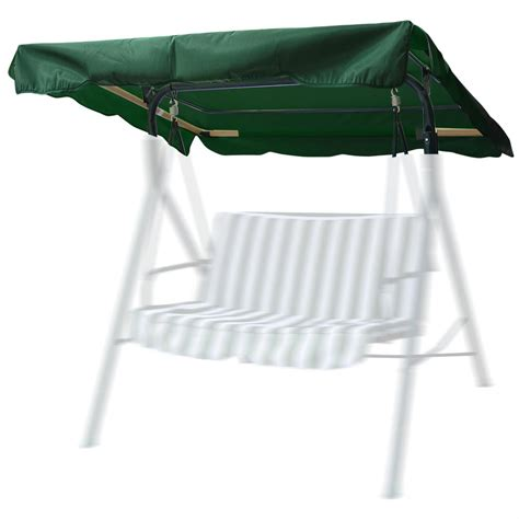 swing seat canopy cover 76 quot x44 quot outdoor swing canopy top replacement cover garden