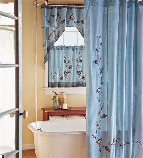Bathroom Window Curtains With Matching Shower Curtain Curtain Ideas Shower Curtains With Matching Window Curtains