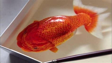 Lukisan Resin 3d wow lukisan 3d hewan air ini seperti nyata