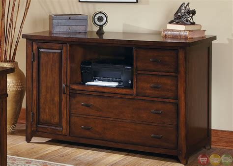 leyton transitional home office desk credenza set