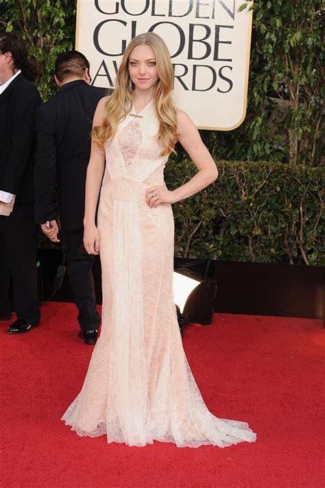 Dress Newtem Fashion Impor genevieve carpet rundown golden globes 2013