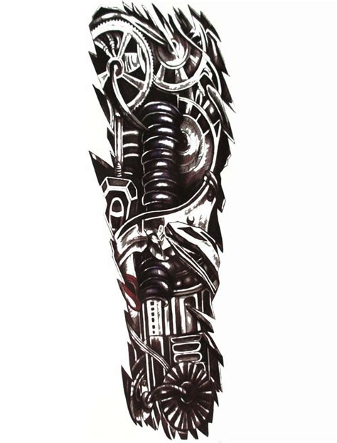 tribal temporary tattoo chip robot sleeve temporary robot