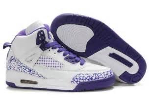 womens jordans shoes new jordans spizike womens embroidery white purple