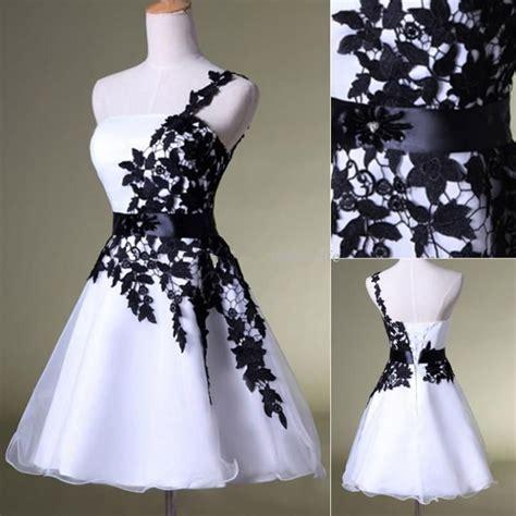 Black And White Vintage Dress sales vintage black lace white organza prom