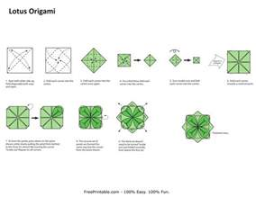 How To Make An Easy Origami Lotus Flower Free Origami Printable 171 Embroidery Origami