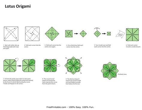 How To Make A Paper Lotus Step By Step - free origami printable 171 embroidery origami