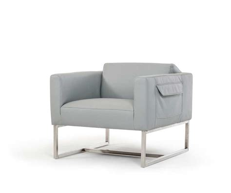 Grey Leather Accent Chair Grey Modern Chair In Eco Leather Vg77 Accent Seating