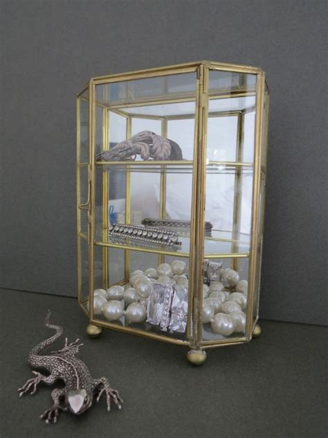 table top curio display case vintage table top glass display cabinet wall jewellery
