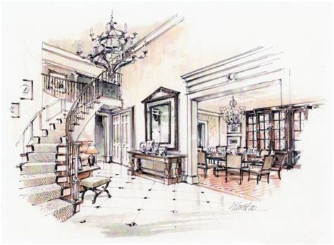 sketch room interior design sketches living room search