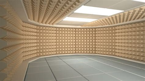 how to soundproof a room sound proof room anechoic chamber stock footage 3907430
