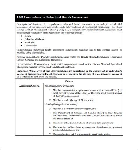 sle health assessment template 5 free documents in
