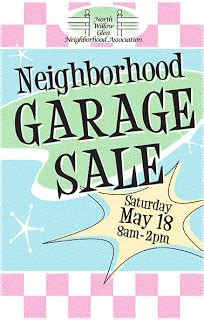 Garage Sale Day by Willow Glen Neighborhood Association Garage Sale
