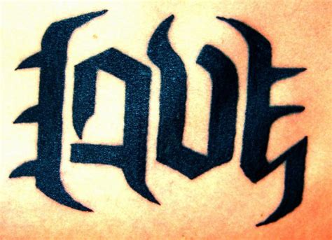 love hate tattoos ambigram www pixshark images