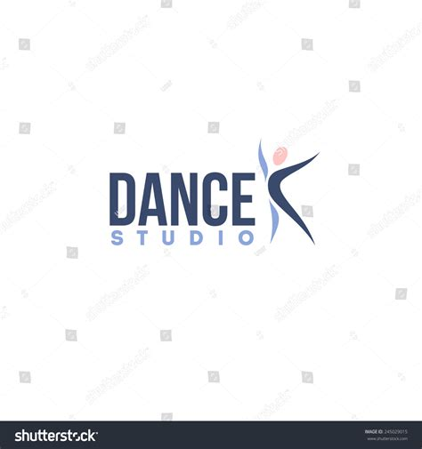 dance studio logo design vector template abstract human