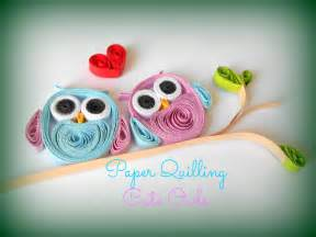 How To Make From Paper Quilling - paper quilling how to make owls paper quilling