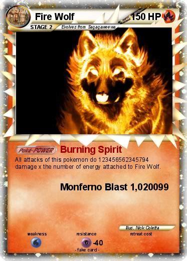 Kaos My Spirit Animal Rt309 pok 233 mon wolf 26 26 burning spirit my card