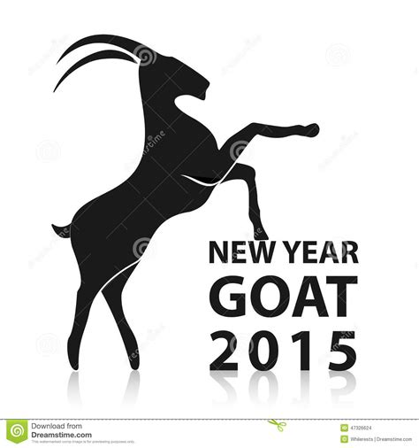 new year animals goat new year 2015 of goat vector eps10 stock vector