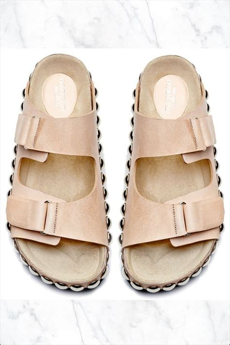 sandals like birkenstock le fashion shoe crush giambattista valli studded