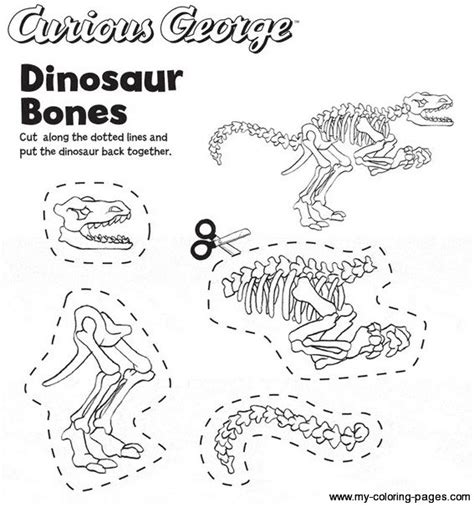 coloring pictures of dinosaur bones dinosaur bones paleontologist birthday expedition