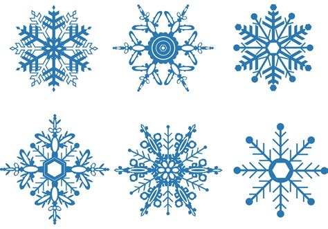 snowflake vector set download free vector art stock