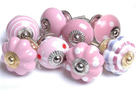 Shabby Chic Door Knobs by Shabby Chic Pink Ceramic Cupboard Knobs Kitchen Door Knobs